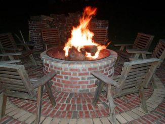 Red bluff lodge firepit