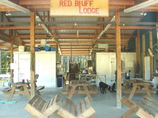 Red bluff lodge skinning shed