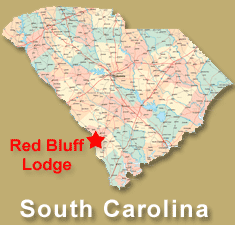 Red bluff lodge map with marker
